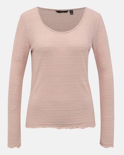 Ružové tričko Vero Moda