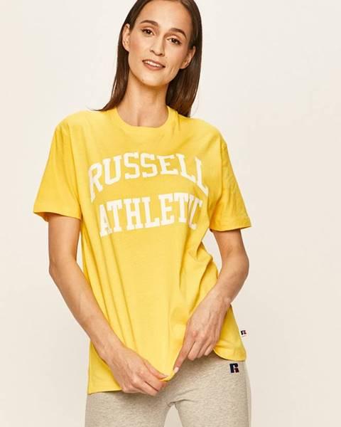 Žlté tričko Russell Athletic