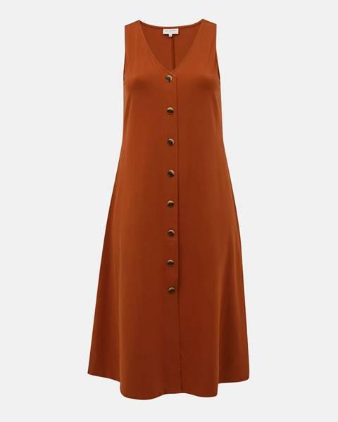 Hnedé šaty ONLY CARMAKOMA