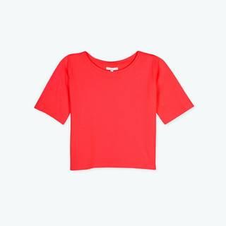 Základné bavlnené krátke tričko