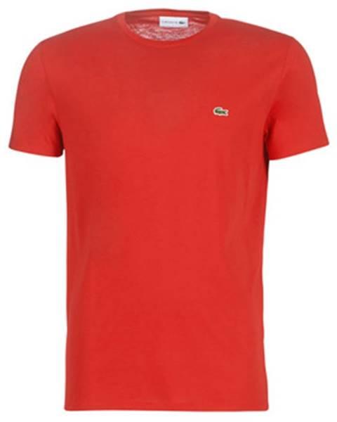 Červené tričko Lacoste
