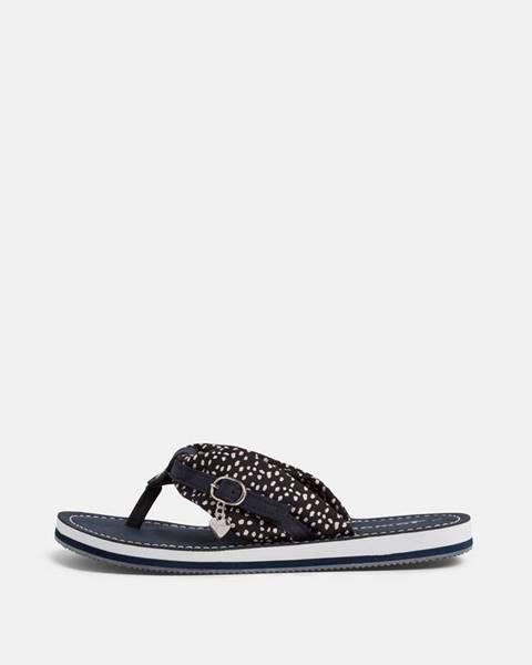 Tmavomodré papuče Tamaris