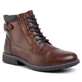 Šnurovacia obuv Lanetti MYL8013-14 koža ekologická