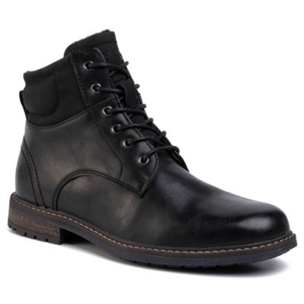 Lanetti Šnurovacia obuv Lanetti MYL8175-1 koža ekologická