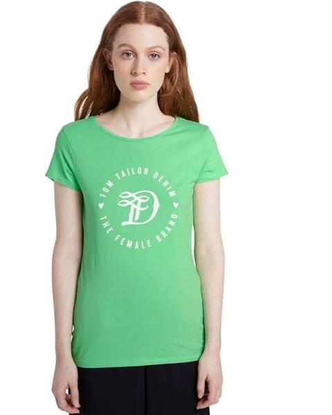 Zelené tričko Tom Tailor Denim