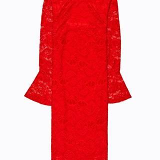 Čipkové šaty so zvonovými rukávmi