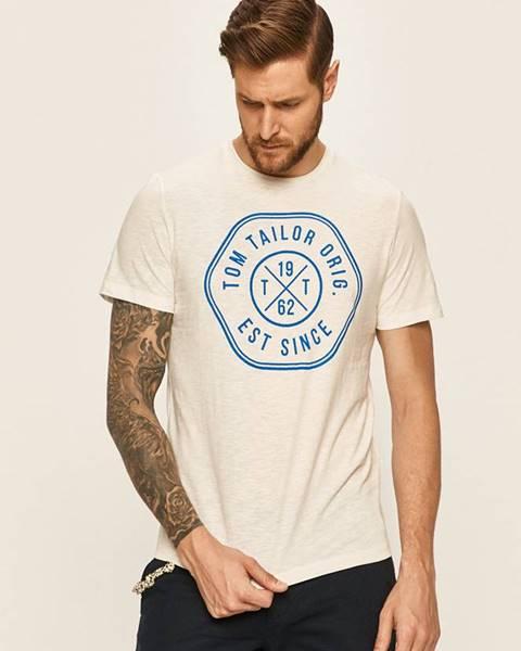 Biele tričko Tom Tailor Denim