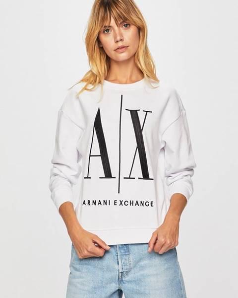 Biela mikina Armani Exchange