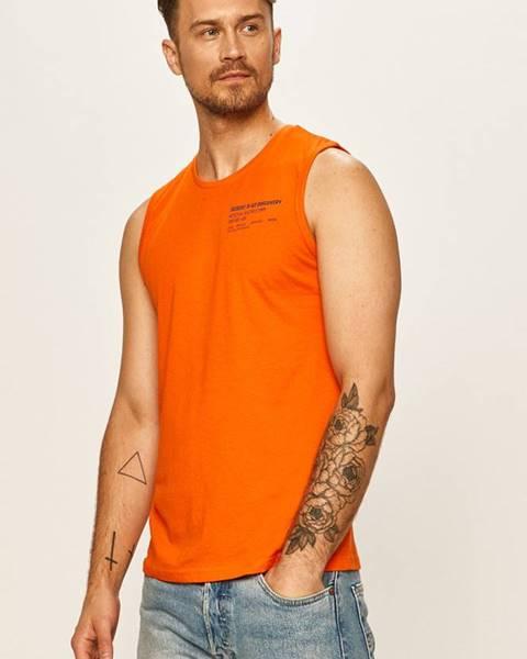 Oranžové tričko Tom Tailor Denim