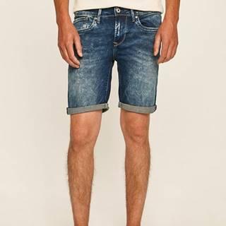 Pepe Jeans - Rifľové krátke nohavice Hatch