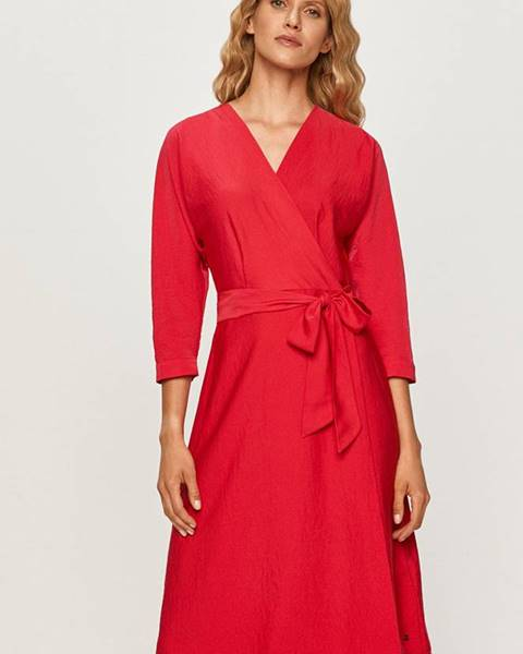 Ružové šaty Tommy Hilfiger