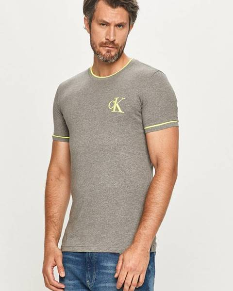 Sivé tričko Calvin Klein Jeans