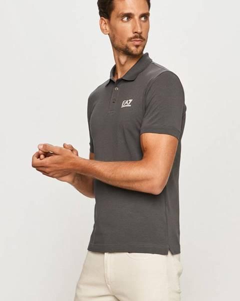 Sivé tričko EA7 Emporio Armani