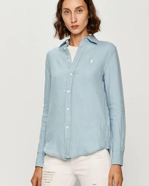Modrá košeľa Polo Ralph Lauren